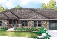 West Creek - 30-781 - Ranch Home Plan - Front Elevation
