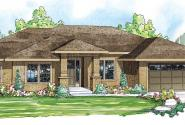 Crownpoint - 30-790 - Prairie Home Plan - Front Elevation