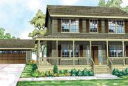 Pine Hill - 30-791 - Country Home Plan - Front Elevation