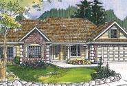 Davidson - 30-384 - Traditional Home Plan - Front Elevation