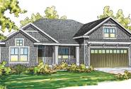 Springbrook - 30-805 - Shingle Style Home Plan - Front Elevation