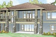 Northshire - 30-808 - Prairie Home Plan - Front Elevation