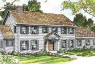 Kearney - 30-062 - Estate Home Plans - Front Elevation