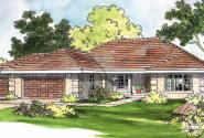 Northrop - 30-096 - Southwestern Home Plans - Front Elevation
