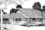 Wickiup - 30-116 - Lodge House Plan - Front Elevation