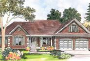 Elmore - 30-169 - Country Home Plan - Front Elevation
