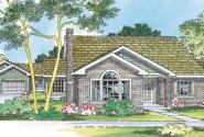 Kingsley - 30-184 - Ranch Home Plan - Front Elevation