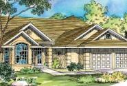 Mansura - 30-188 - Tuscan Home Plan - Front Elevation
