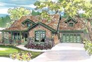 River Glen - 30-223 - Craftsman Home Plan - Front Elevation