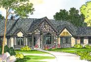 Macon - 30-229 - European Home Plan - Front Elevation