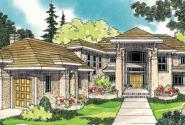 Belle Vista - 30-274 - Estate Home Plan - Front Elevation