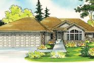 Bennett - 30-281 - Traditional Home Plan - Front Elevation