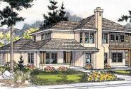 Hazleton - 30-304 - Mediterranean Home Plan - Front Elevation