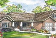 Grayson - 30-305 - Craftsman Home Plan - Front Elevation