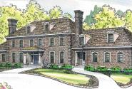 Edgewood - 30-313 - Estate Home Plan - Front Elevation