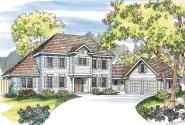 Lansford - 30-314 - Colonial Home Plan - Front Elevation