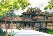 Bowman - 30-315 - Craftsman Home Plan - Front Elevation