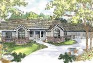 Burnham - 30-481 - Classic Home Plan - Front Elevation