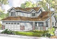 McBride - 30-488 - Contemporary Home Plan - Front Elevation