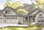 Schuyler - 30-522 - Shingle Style Home Plan - Front Elevation