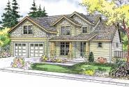 Brightwood - 30-527 - Craftsman Home Plan - Front Elevation