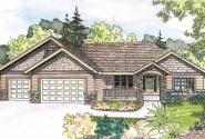 Goldendale - 30-540 - Craftsman Home Plan - Front Elevation