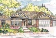 Hollyview - 30-554 - Traditional Home Plan - Front Elevation