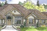 Bentley - 30-560 - Estate Home Plan - Front Elevation