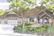 Chadbryne - 30-577 - Ranch Home Plan - Front Elevation