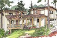 Roosevelt - 30-603 - Craftsman Home Plan - Front Elevation