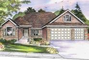 Cheyenne - 30-643 - Prairie Home Plan - Front Elevation