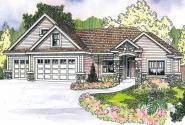 Elkheart - 30-645 - Craftsman Home Plan - Front Elevation