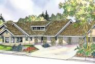 Burnside - 30-657 - Florida Home Plan - Front Elevation