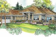 Meadowbrook - 30-659 - Prairie Home Plan - Front Elevation