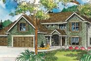 Thomaston - 30-668 - European Home Plan - Front Elevation