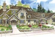 Picardie Villa - 30-676 - Estate Home Plan - Front Elevation
