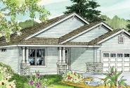 Barlow - 30-694 - Cottage Home Plan - Front Elevation