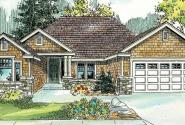 Ridgefield - 30-696 - Craftsman Home Plan - Front Elevation