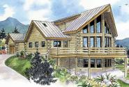 Kodiak - 30-697 - A-Frame House Plan - Front Elevation