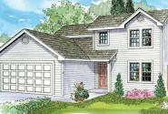 Wethersfield - 30-702 - Contemporary Home Plan - Front Elevation