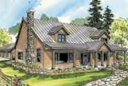 Elkton - 30-704 - Lodge House Plan - Front Elevation