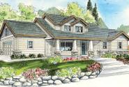 Rockport - 30-707 - Craftsman Home Plan - Front Elevation