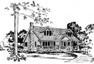 Alhambra - 41-001 - Craftsman Home Plans - Front Elevation
