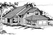 Tiffany - 50-002 - Contemporary Home Plans - Front Elevation