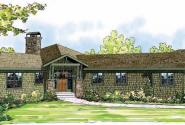 Heartview - 50-015 - Ranch Home Plans - Front Elevation