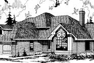 Compton - 10-019 - Contemporary Home Plans - Front Elevation