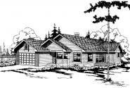 Hampton - 10-028 - Traditional Home Plans - Front Elevation