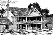 Clairmont - 10-041 - Colonial Home Plans - Front Elevation