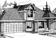 Melrose - 10-047 - Traditional Home Plans - Front Elevation