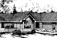 Bainbridge - 10-049 - Ranch Home Plans - Front Elevation